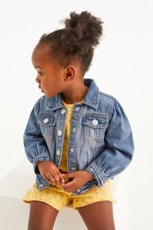 Blue Volume Sleeve Denim Jacket (3mths-7yrs)