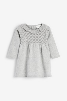 Grey Knitted Dress (0mths-2yrs)