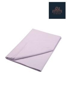 Bedeck of Belfast Plain Dye Cotton Percale Flat Sheet