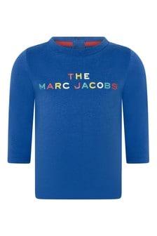 Baby Boys Blue Cotton Jersey T-Shirt