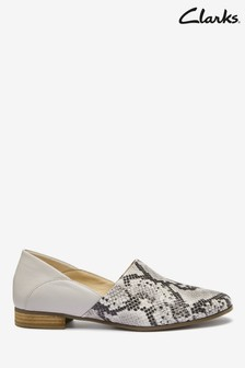 Clarks Grey Snake Pure Tone Shoes