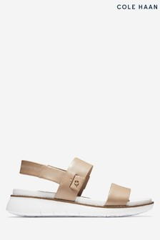 Cole Haan Cream Zerogrand Global Double Band Slip-On Sandals