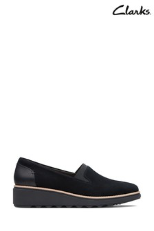 Clarks Black Suede Sharon Dolly Shoes