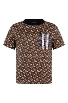Boys Brown Bridle Cotton T-Shirt