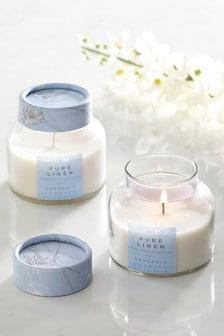 Set of 2 Linen Candles