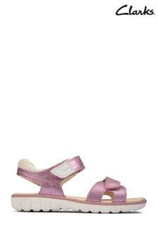 Clarks Light Pink Lea Roam Surf Y Sandals