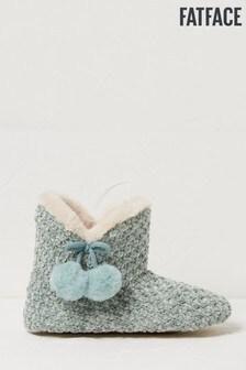 FatFace Blue Charlie Chenille Slipper Boots