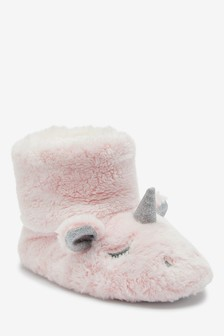 Pink Unicorn Slipper Boots (Younger)