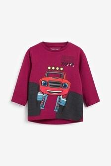 Plum Blaze Long Sleeve Jersey T-Shirt (9mths-8yrs)