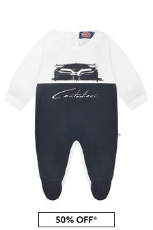 Bugatti Baby Boys Navy Cotton Boys Romper