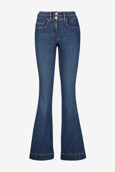 Dark Blue Lift, Slim And Shape Flared Jeans