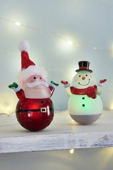 Set of 2 Light Up Wobbly Characters