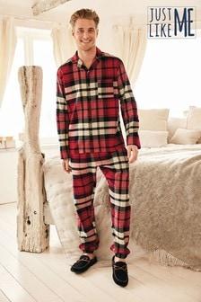 Red Matching Family Mens Check Pyjamas