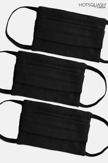HotSquash Adult Black Face Coverings Three Pack