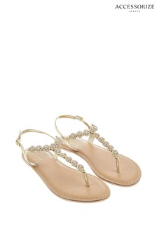 Accessorize Brown Rome Embellished Sandals