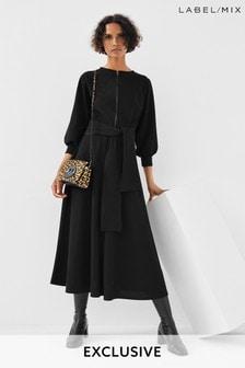 Next/Mix Zip Front Jersey Dress