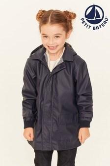 Petit Bateau Navy Iconic Waxed Raincoat