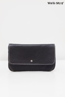 White Stuff Navy Fern Leather Purse