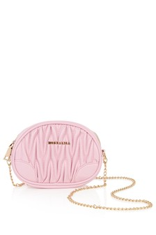 Girls Pink Faux Leather Shoulder Bag