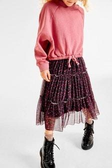 Floral Tulle Midi Skirt (3-16yrs)