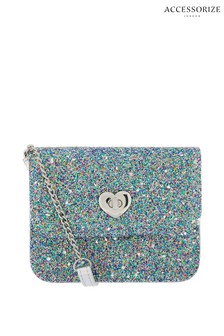 Accessorize Blue Glitter Party Across Body Bag