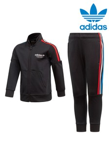 adidas Originals Little Kids Black Tracksuit