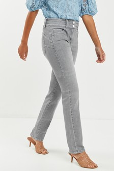 Grey Lift, Slim And Shape Slim Jeans