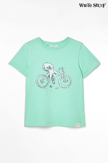 White Stuff Green Kids Octobike Jersey T-Shirt