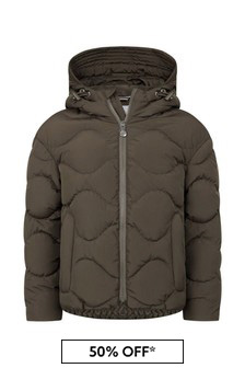 Boys Khaki Water Repellent Louna Jacket