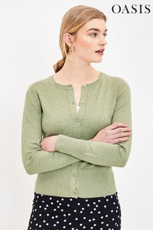 Oasis Green Crew Knit Cardigan