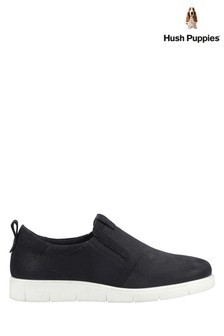 Hush Puppies Black Lumi Slip-On Trainers