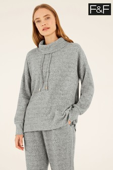 F&F Grey Roll Neck Sweater
