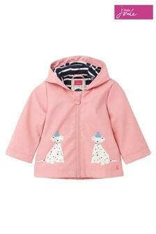 Joules Pink Cloud Dalmation Raincoat