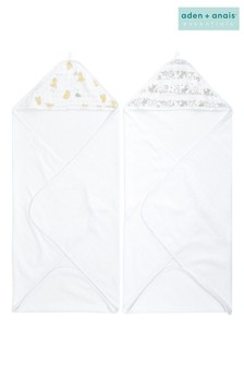aden + anais Essentials Disney™ Baby - Winnie + Friends Hooded Towels Two Pack