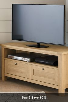 Oak Effect Malvern Corner TV Stand