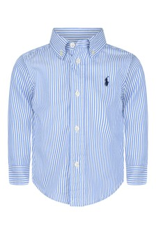 Cruise Baby Boys Blue Striped Shirt
