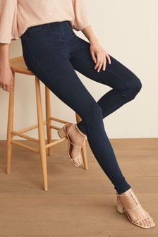 Inky Blue Power Stretch Denim Leggings