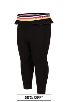 Givenchy Kids Baby Girls Black Cotton Leggings