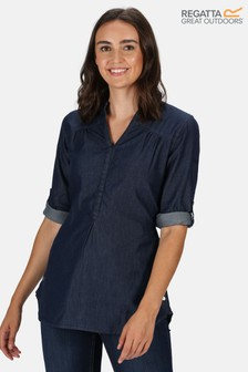 Regatta Blue Maelie Long Sleeve Shirt