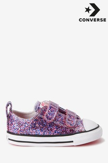 Converse 2V Glitter Infant Trainers