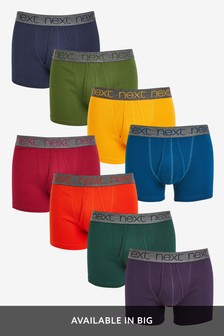 Rich Colour A-Fronts Pure Cotton Eight Pack