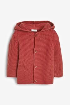 Red Bear Hooded Cardigan (0mths-3yrs)