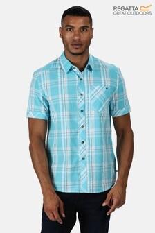 Regatta Blue Deakin III Short Sleeve Shirt