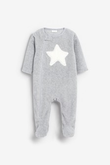 Grey Star Fleece Sleepsuit (0mths-3yrs)