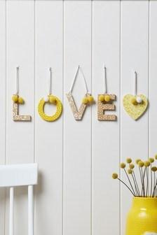 Set of 2 Alphabet Hanging Decorations