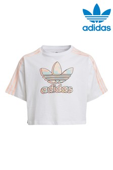 adidas Originals Marble Crop T-Shirt
