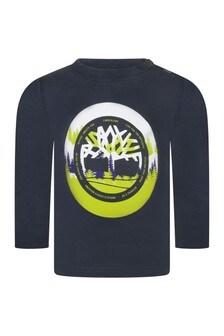 Baby Boys Grey Organic Cotton Jersey T-Shirt