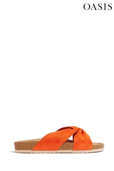 Oasis Orange Molded Footbed Sandals