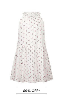 Bonpoint Girls White Cotton Dress