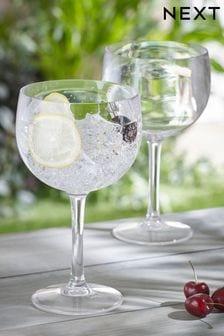 Set of 2 Plastic Gin Glasses